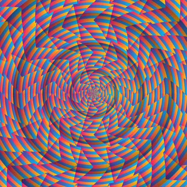 Trippy Swirl Psychedelic Fluorescent UV-reactive Backdrop