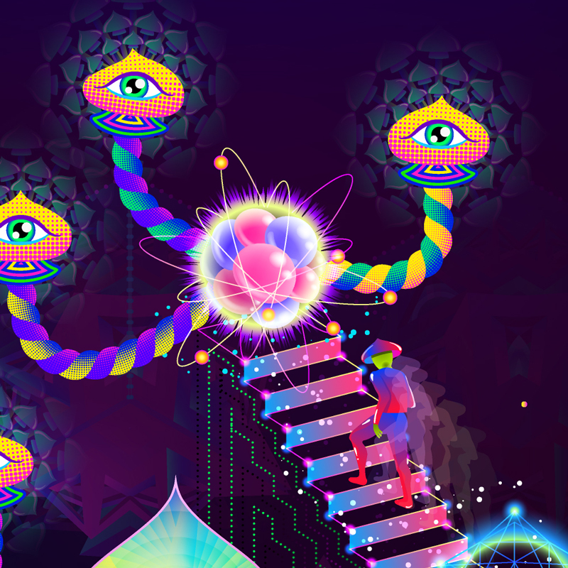 Psilocybin World Design Detail by Andrei Verner