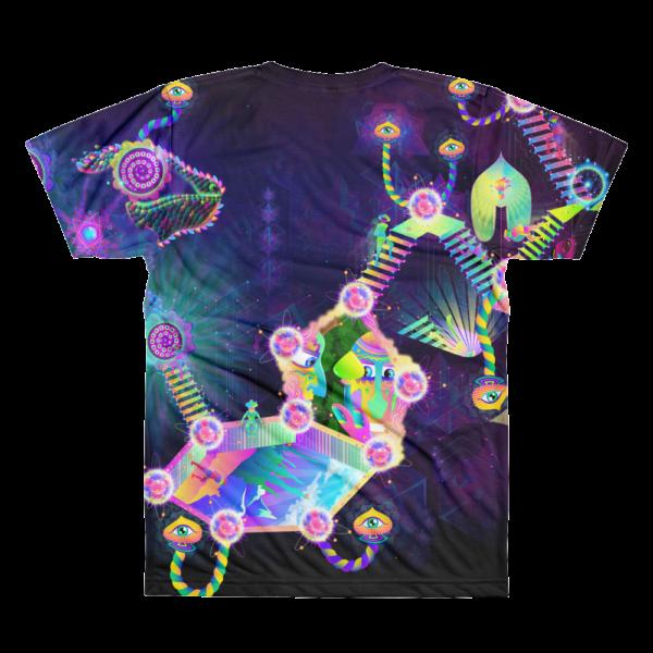 Psilocybin Molecule World Psychedelic All-Over-Print T-shirt Back
