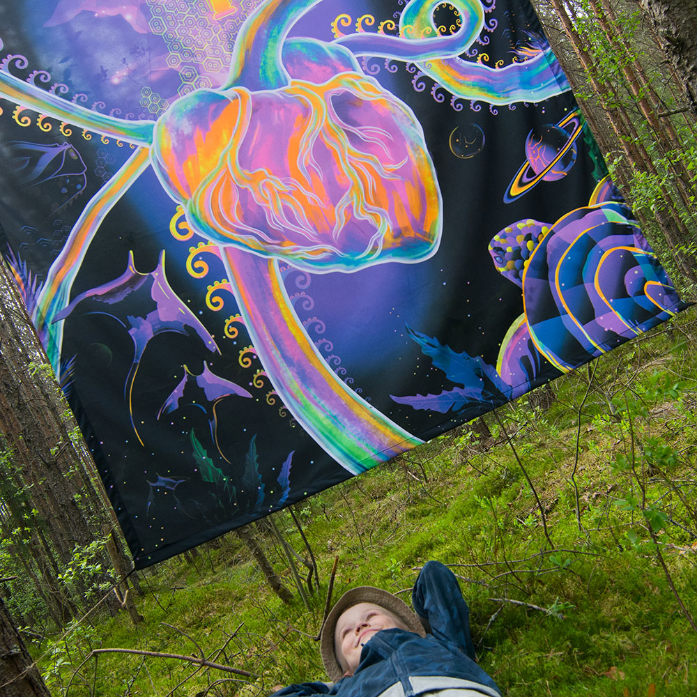 Psychedelic Evolution Backdrop Sale