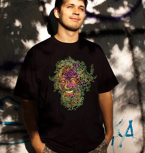 Alexander Shulgin MDMA and 2C-B Psychedelic T-shirt