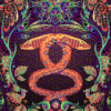 Jungle Snake Psychedelic Fluorescent UV-Reactive Backdrop Tapestry Blacklight Poster