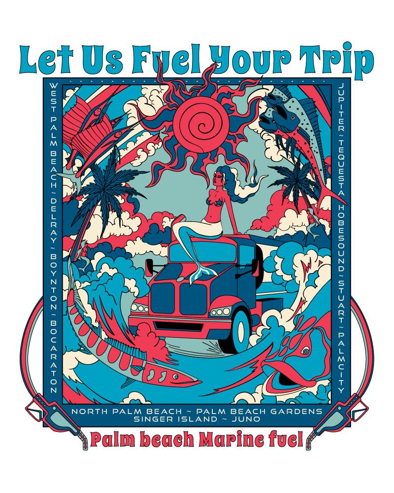 Palm Beach Marine Fuel T-shirt Design