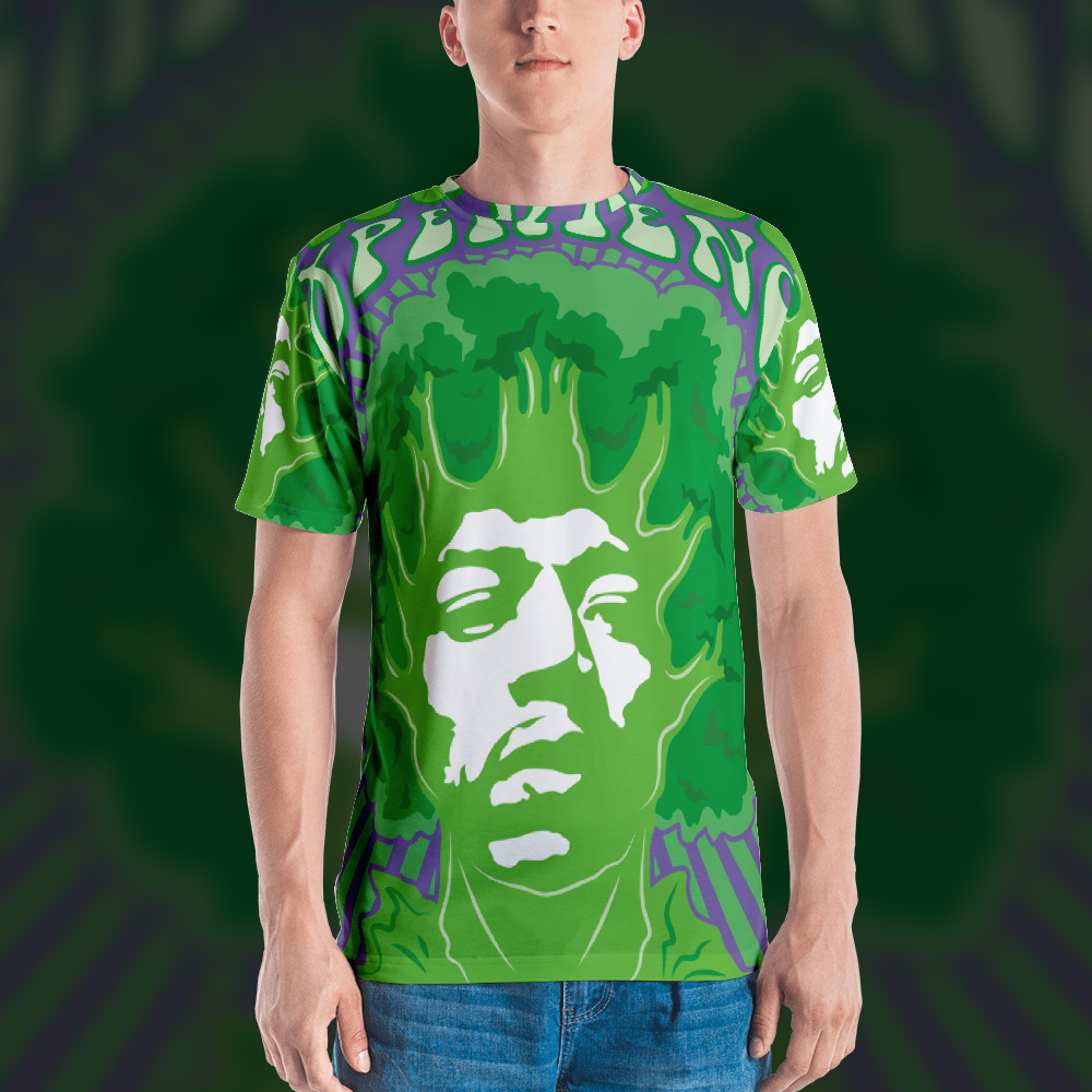 Broccoli Experience Psychedelic Man's T-shirt