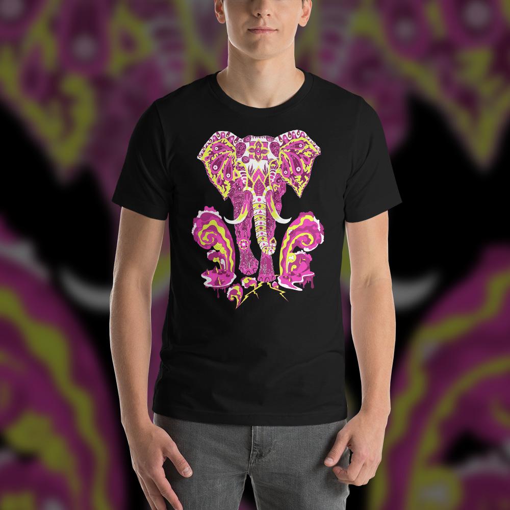 Hippie Elephant Man's T-shirt