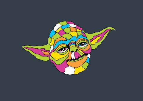Psychedelic Pins - Yoda
