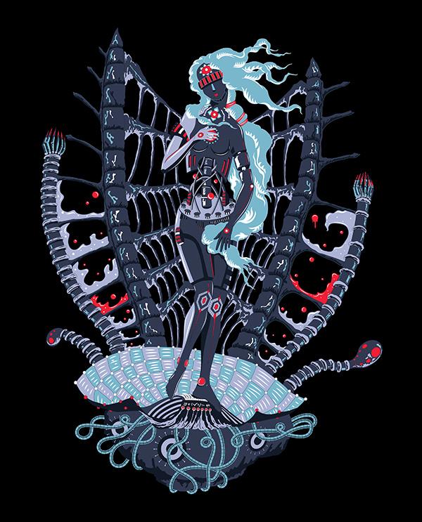 Cyber Venus Psychedelic Design