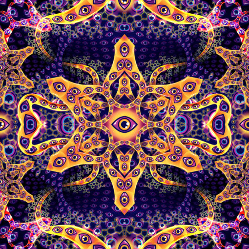 Abracadabra Colorful UV Backdrop XL Dark Tapestry Psychedelic Fluorescent Wall Art