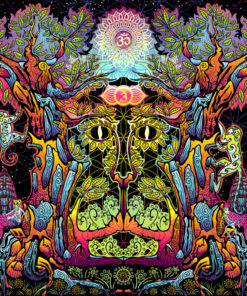 Hanuman Psychedelic Art Background