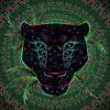 Black Leopard Psychedelic Fluorescent Tapestry UV-reactive Backdrop Blacklight Poster
