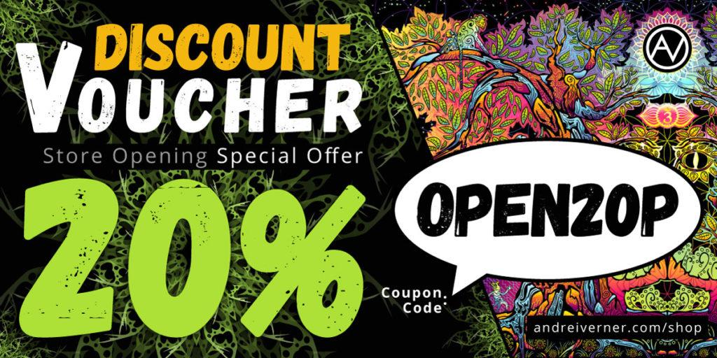 Psychedelic Art Shop Discount Voucher