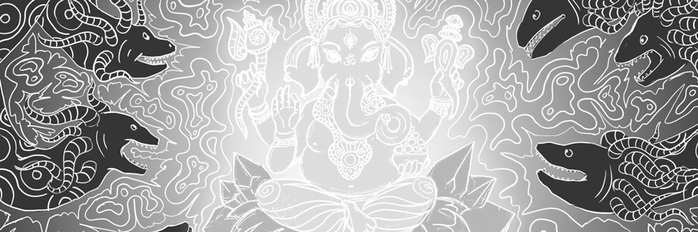 Lord Ganesha and Electric Eels - sketch
