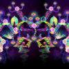 Psilocybin World Super-Wide Psychedelic Fluorescent Backdrop UV Tapestry Blacklight Poster