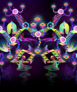 Psilocybin World Super-Wide Psychedelic Fluorescent Backdrop UV Tapestry Blacklight Poster