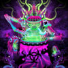 Post Apocalypse Shaman Psychedelic Fluorescent UV-Reactive Backdrop Tapestry Blacklight Poster