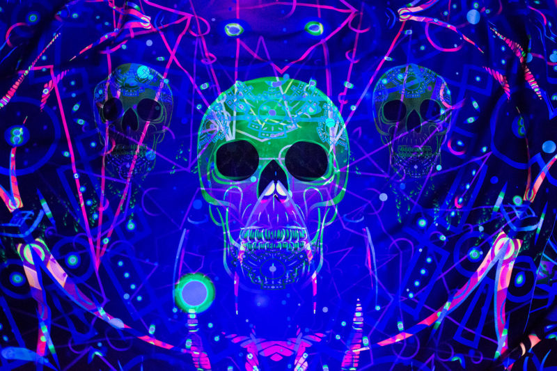 Alien Enlightenment Psychedelic UV-reactive Tapestry Backdrop