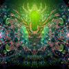 Alien Enlightenment Psychedelic UV-Reactive Tapestry Fluorescent Backdrop