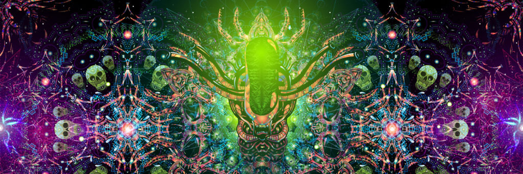 Alien Enlightenment Psychedelic Art Header