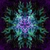 Cthulhu Mandala Psychedelic UV-Reactive Tapestry Design