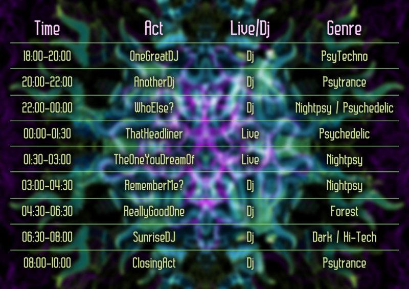 Cthulhu Mandala A4 Timetable Template