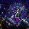Epic Underwater Kingdom UV Reactive Psychedelic Tapestry Backdrop