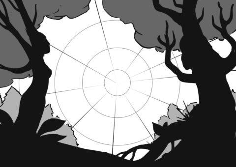 Waldfrieden Wonderland Festival 2020 - Facebook Event Cover Rough Sketch - by Andrei Verner