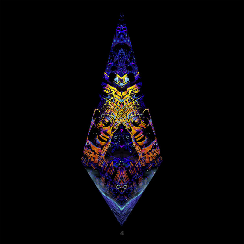 Golden Buddha Temple Psychedelic UV-Reactive Canopy - Single Petal