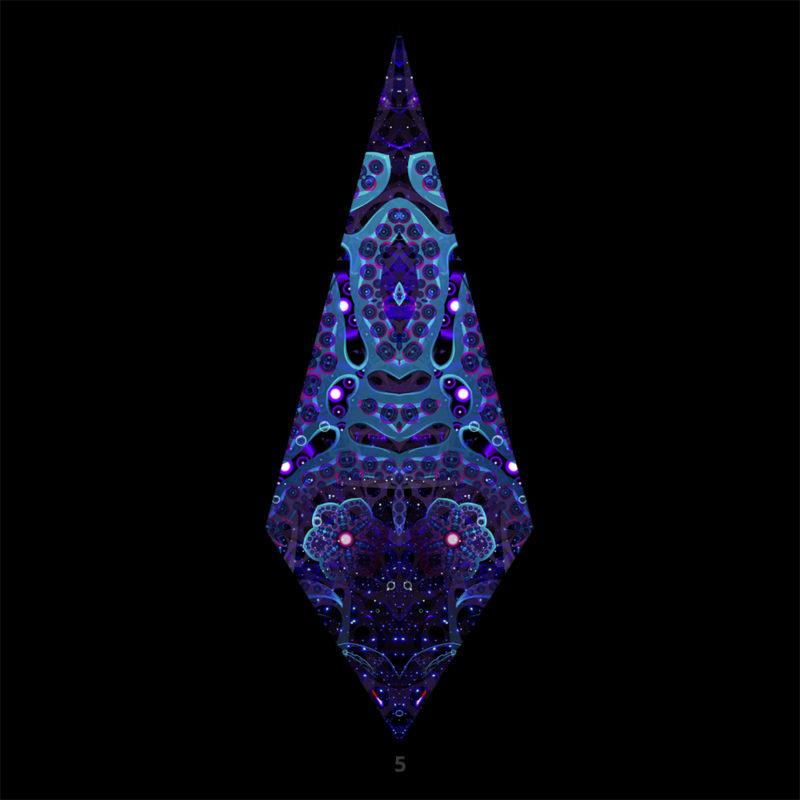 Deep Sea Psychedelic UV-Reactive Canopy - Single Petal
