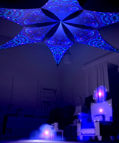 Deep Sea Psychedelic UV-Reactive Canopy - 6 petals set