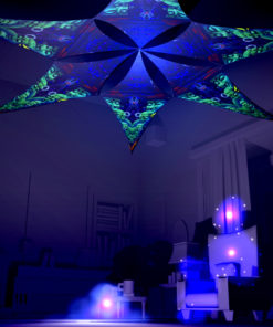 Emerald Buddha Temple Psychedelic UV-Reactive Canopy - 6 petals set