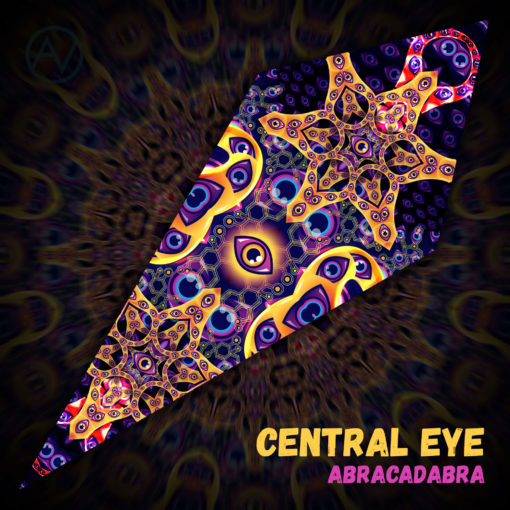 "Abracadabra - Psychedelic UV-Reactive Canopy - Petal Design - ""Central Eye"""