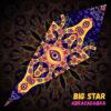 "Abracadabra - Psychedelic UV-Reactive Canopy - Petal Design - ""Big Star"""