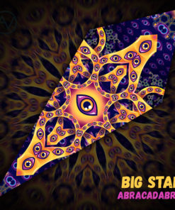 "Abracadabra - Psychedelic UV-Reactive Canopy - Petal Design - ""Big Star"""