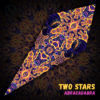 "Abracadabra - Psychedelic UV-Reactive Canopy - Petal Design - ""Two Stars"""