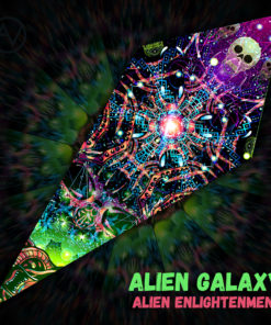 "Alien Enlightenment - Psychedelic UV-Reactive Canopy - Petal Design - ""Alien Galaxy"""