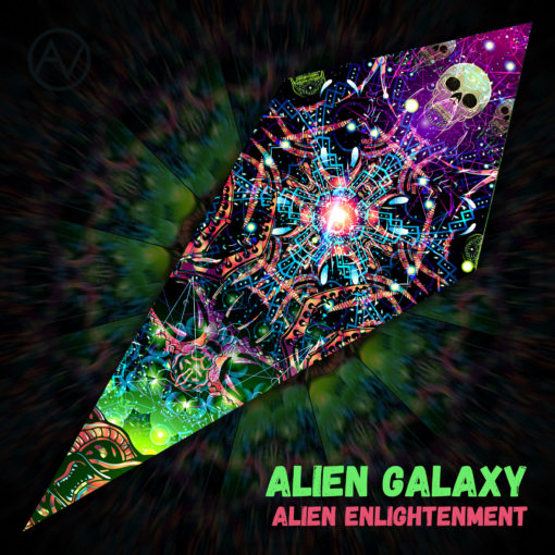 "Alien Enlightenment - Psychedelic UV-Reactive Canopy - Petal Design - ""Alien Galaxy"""