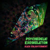 "Alien Enlightenment - Psychedelic UV-Reactive Canopy - Petal Design - ""Psychedelic Exoskeleton"""