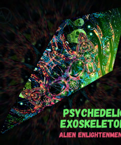 "Alien Enlightenment - Psychedelic UV-Reactive Canopy - Petal Design - ""Psychedelic Exoskeleton"""
