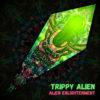 "Alien Enlightenment - Psychedelic UV-Reactive Canopy - Petal Design - ""Trippy Alien"""