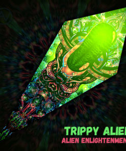"Alien Enlightenment - Psychedelic UV-Reactive Canopy - Petal Design - ""Trippy Alien"""