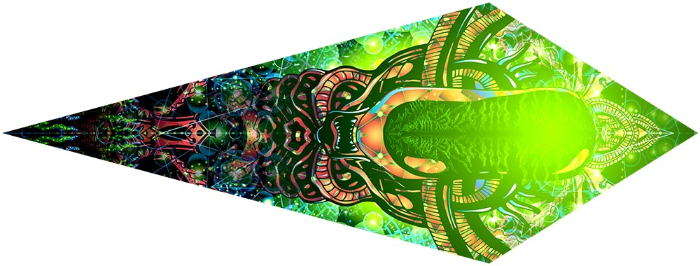 Trippy Alien Canopy Petal Design