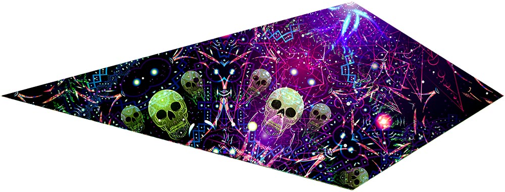 Space Skulls Canopy Petal Design