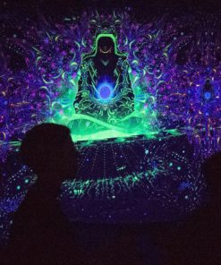 Enlightenment - 3 Adepts Version - Psychedelic UV-Reactive Tapestry - During the party