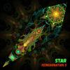 "Reincarnation 2 - Psychedelic UV-Reactive Canopy - Petal Design - ""Star"""