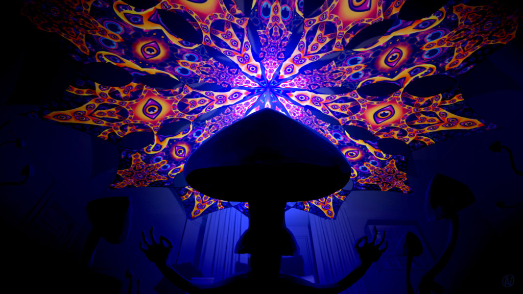 Abracadabra UV-Canopy & Magic Mushrooms Wallpaper