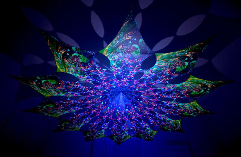 Alien Enlightenment - Psychedelic Exoskeleton Design - UV-Reactive Canopy
