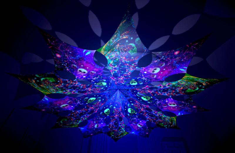 Alien Enlightenment - Psychedelic Exoskeleton & Space Skulls Design - UV-Reactive Canopy