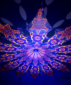 Abracadabra - Central Eye Psychedelic UV-Reactive Canopy - 12 Petals Set