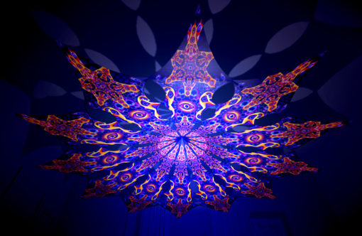 Abracadabra - Central Eye Psychedelic UV-Reactive Canopy - 12 Petals Set
