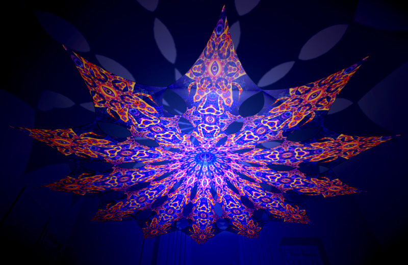 Abracadabra - Two Stars Psychedelic UV-Reactive Canopy - 12 Petals Set